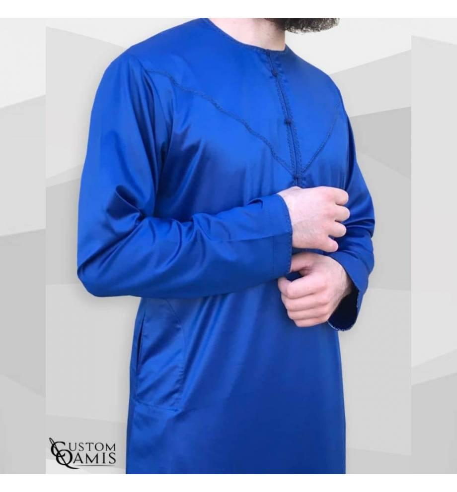 Royal Blue Emirati Qamis by Custom Qamis