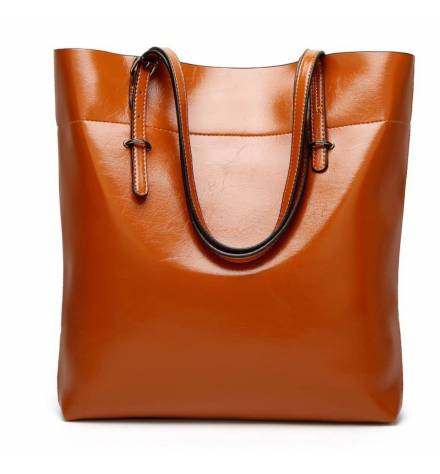 Big vintage and cinnamon-coloured handbag