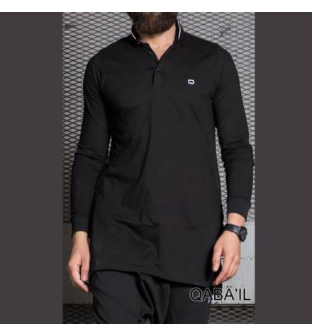 Qabail Long sleeves polo shirt