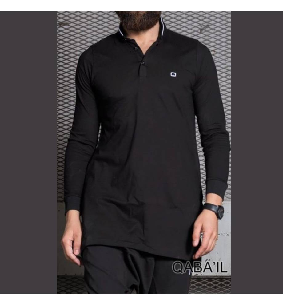 Qabail Long sleeves polo shirt