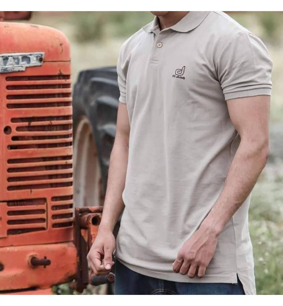 Oversize short sleeve polo shirt