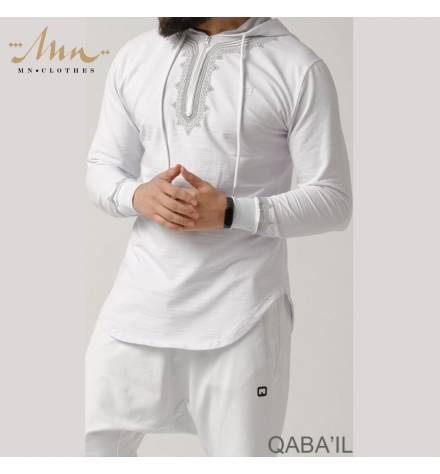 Qabail longline sweatshirt - Charcoal gray color