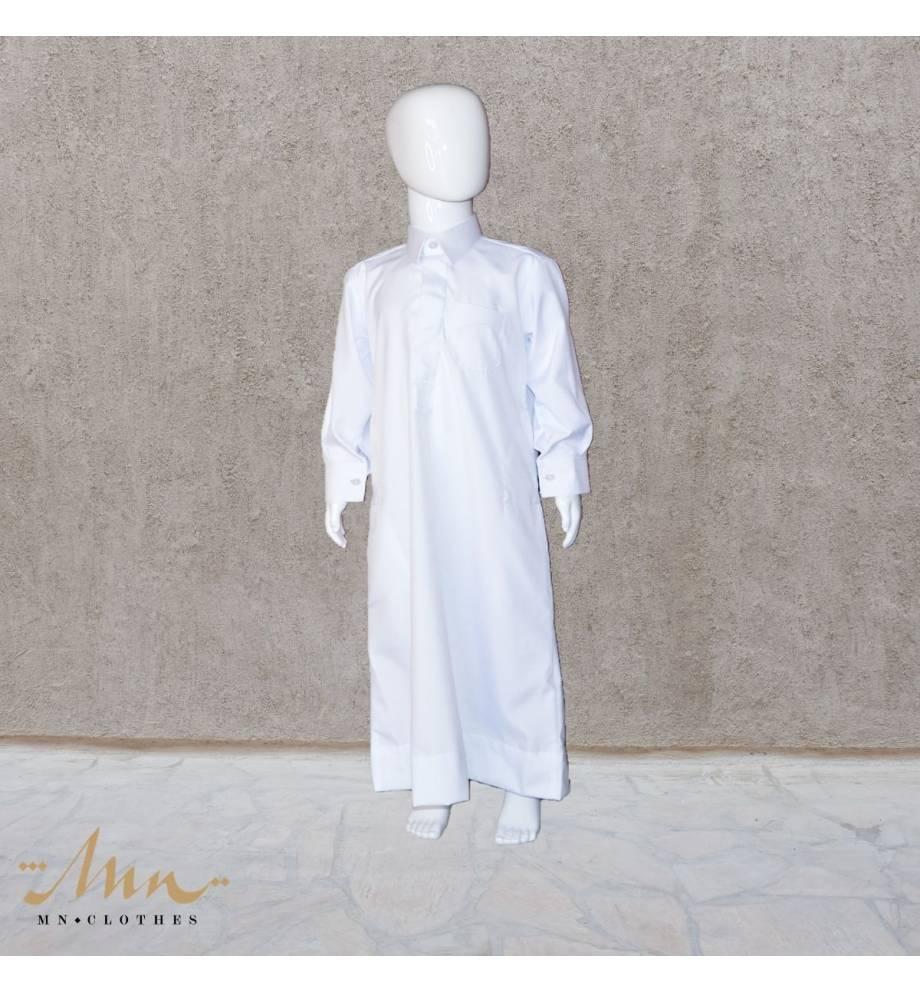 Qamis Classic Blanc enfant by Custom qamis