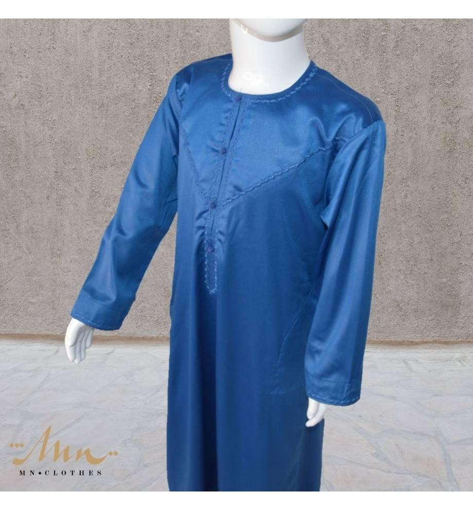 Qamis Emirati bleu roi enfant by Custom qamis